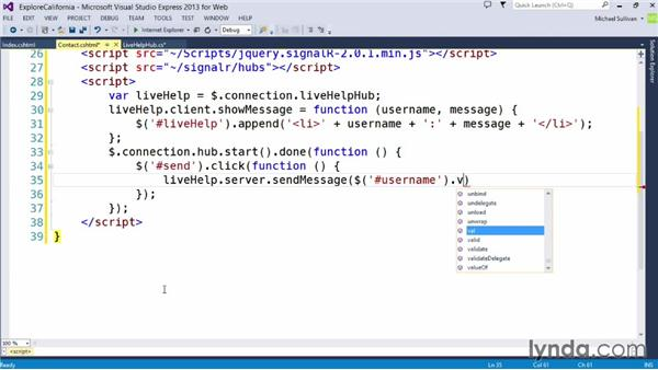 Implementing live help: Up and Running with ASP.NET