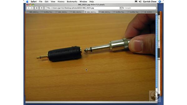 Audio input types: GarageBand 2 Essential Training