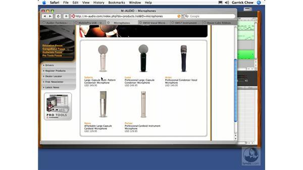 Microphone types: GarageBand 2 Essential Training
