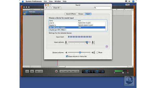 Setting audio levels: GarageBand 2 Essential Training