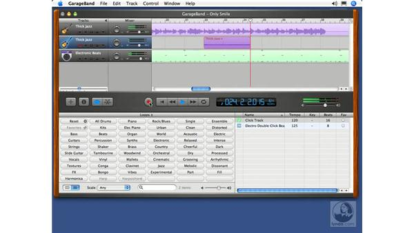 Recording a real instrument track: GarageBand 2 Essential Training