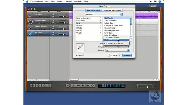 Multi-track recording: GarageBand 2 Essential Training