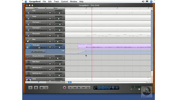 Volume curves: GarageBand 2 Essential Training