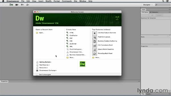 A word about updates: Dreamweaver CS6 and WordPress 3.8: Core Concepts