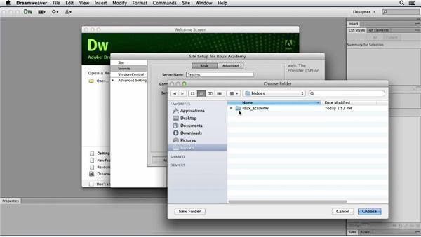 Establishing the Dreamweaver site: Dreamweaver CS6 and WordPress 3.8: Core Concepts