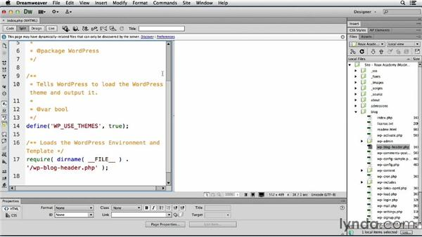 Accessing dynamically related files: Dreamweaver CS6 and WordPress 3.8: Core Concepts