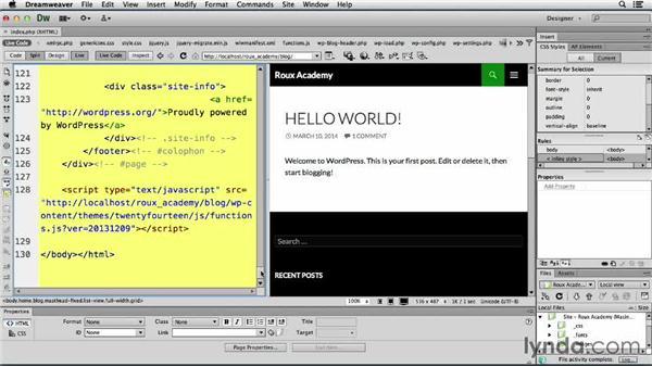 Employing Live Code: Dreamweaver CS6 and WordPress 3.8: Core Concepts