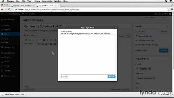 Adding new pages: Dreamweaver CS6 and WordPress 3.8: Core Concepts