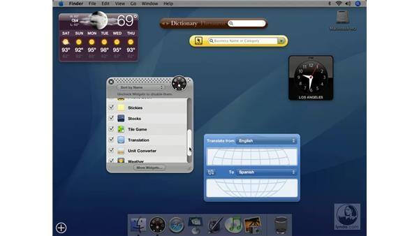 Dashboard and Widget Update: Mac OS X 10.4 Tiger Essential Training