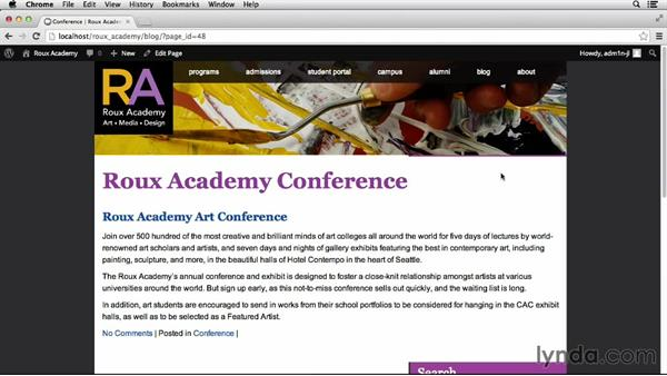 Developing category-driven pages: Dreamweaver CS6 and WordPress 3.8: Core Concepts