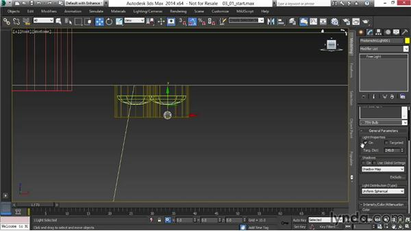 Casting light from interior fixtures: Rendering Interiors in 3ds Max