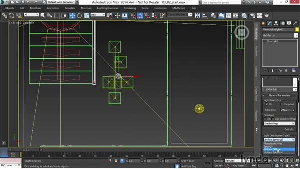 Lighting from pendant fixtures: Rendering Interiors in 3ds Max