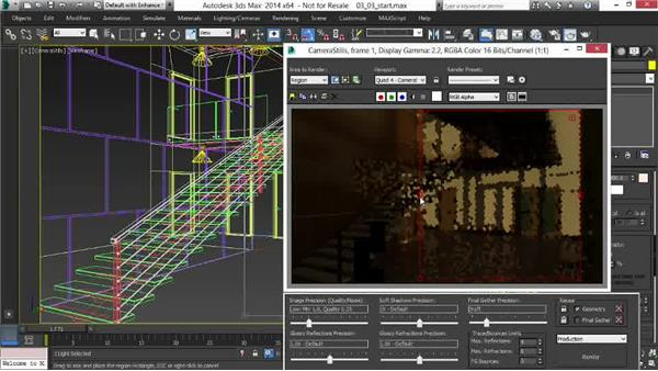 Adjusting the sun for a dusk shot: Rendering Interiors in 3ds Max