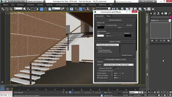 Adding the Physical Sky shader and Photographic Exposure: Rendering Interiors in 3ds Max