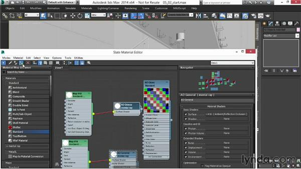 Creating an ambient-occlusion rendering pass with custom materials: Rendering Interiors in 3ds Max