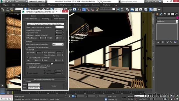 Fine-tuning Final Gather and lighting: Rendering Interiors in 3ds Max