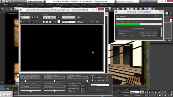 Caching Final Gather and rendering the image passes: Rendering Interiors in 3ds Max