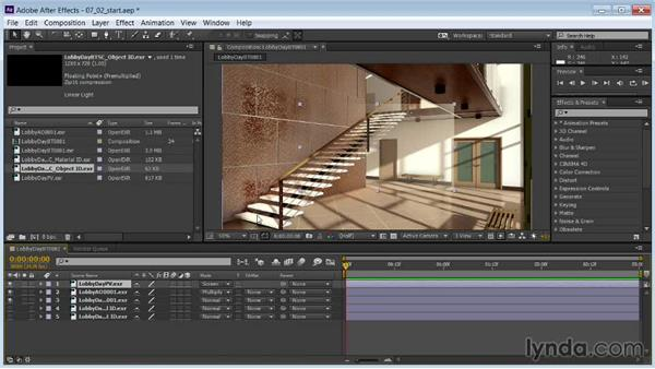 Setting blending modes and adjusting opacity: Rendering Interiors in 3ds Max