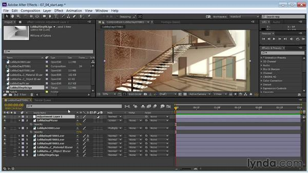Adding depth of field: Rendering Interiors in 3ds Max