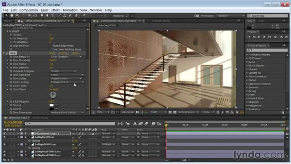Putting on the final polish with glinting highlights and glow: Rendering Interiors in 3ds Max