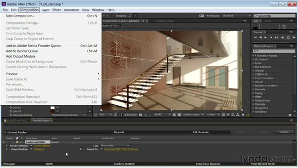 Rendering the composited animation: Rendering Interiors in 3ds Max