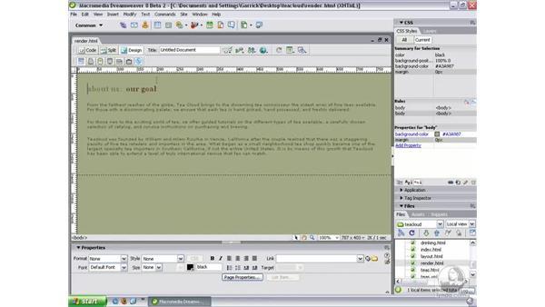 CSS media types: Dreamweaver 8 New Features