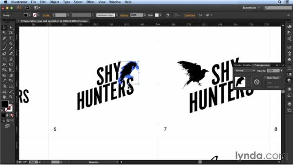 Combining type and symbols: Designing a Logo for a Band