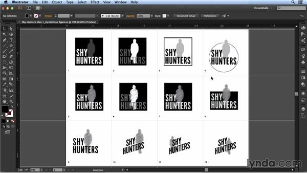 Forming logo idea 1: Mysterious Figure: Designing a Logo for a Band