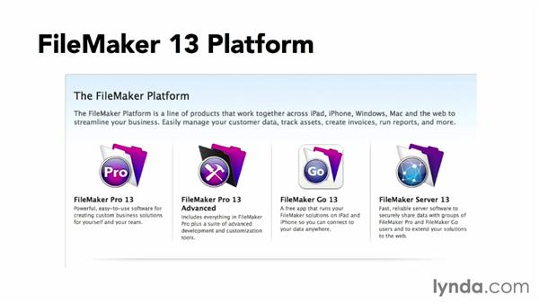 Introducing the FileMaker 13 platform: FileMaker Pro 13 Essential Training