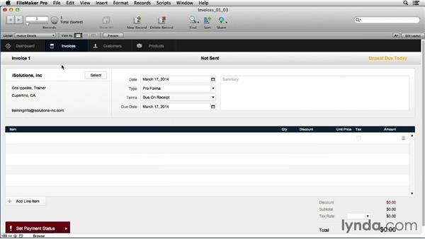 Reviewing how FileMaker works: FileMaker Pro 13 Essential Training