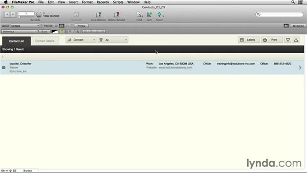 Exploring the interface: FileMaker Pro 13 Essential Training