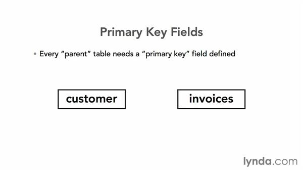 Understanding key fields: FileMaker Pro 13 Essential Training