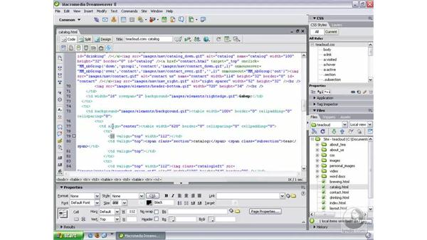 Code View toolbar: Dreamweaver 8 New Features
