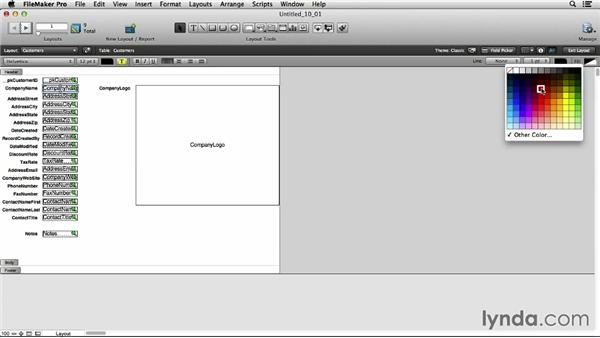 Using the Layout Setup dialog: FileMaker Pro 13 Essential Training
