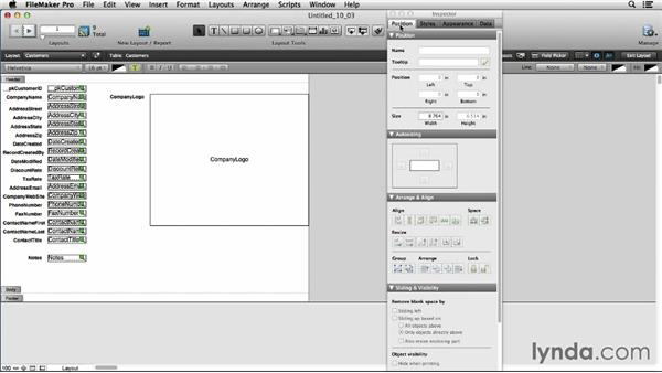 Previewing the Inspector: FileMaker Pro 13 Essential Training