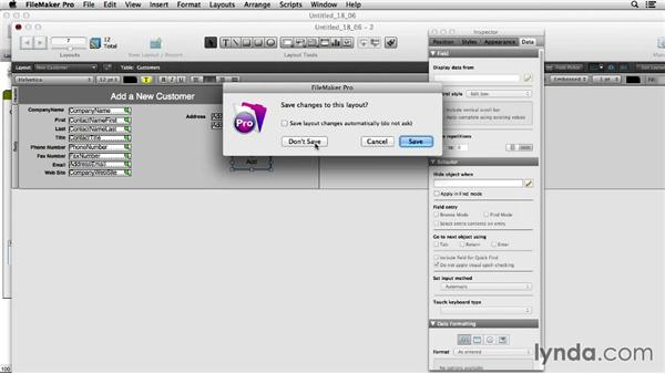 Using the New Window script step: FileMaker Pro 13 Essential Training