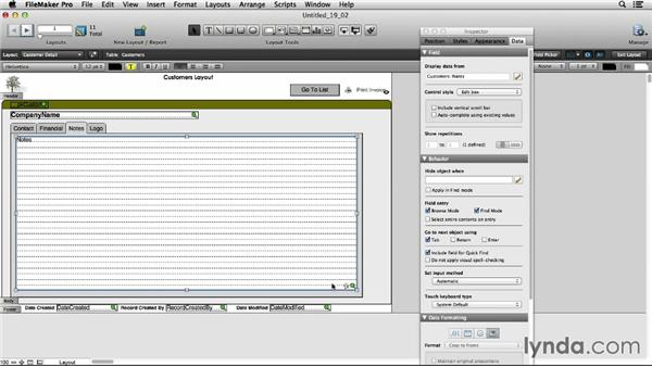 Using object-based triggers: FileMaker Pro 13 Essential Training