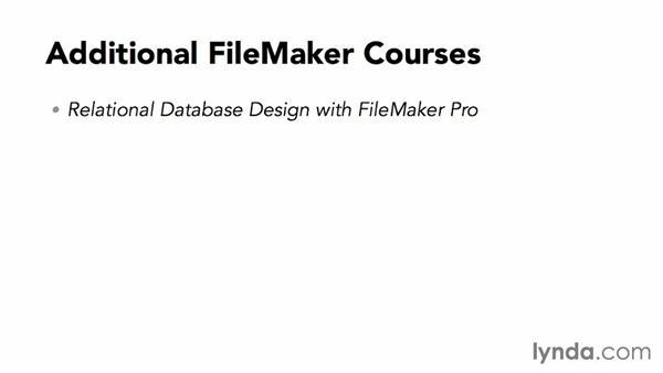 Goodbye: FileMaker Pro 13 Essential Training