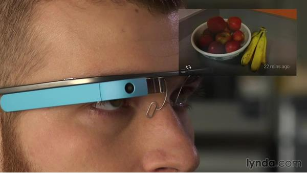 Using touch commands: Up and Running with Google Glass