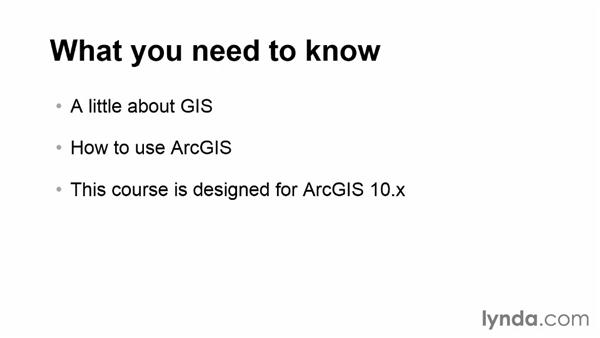 What you should know before watching this course: Real-World GIS
