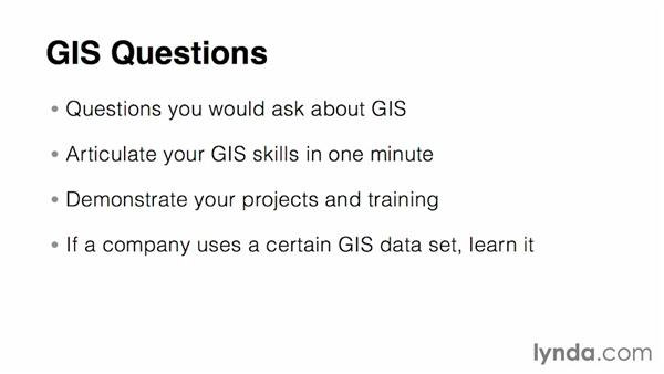 Preparing for specific interview questions: Real-World GIS