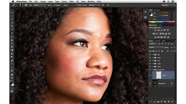 Removing blemishes: Portrait Project: Retouching a Studio Portrait