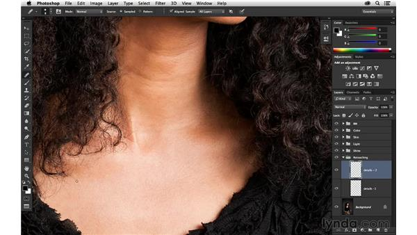 Diminishing the wrinkles: Portrait Project: Retouching a Studio Portrait