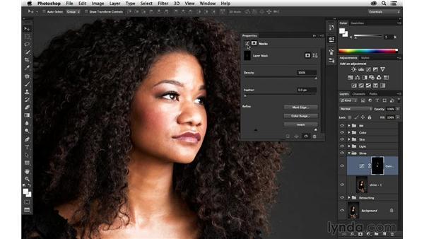 Reducing shine with Curves: Portrait Project: Retouching a Studio Portrait