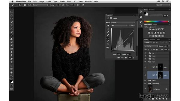 Brightening the light with masking: Portrait Project: Retouching a Studio Portrait