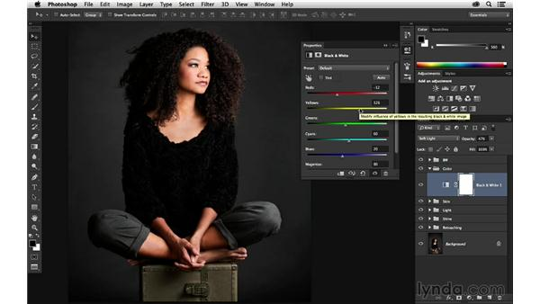 Creating global stylistic color changes: Portrait Project: Retouching a Studio Portrait