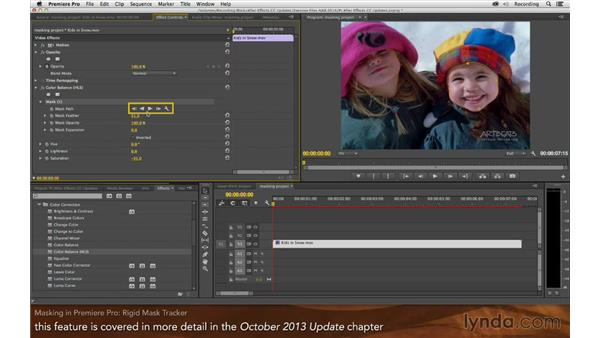 Masking in Premiere Pro: After Effects: Creative Cloud Updates