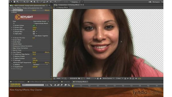 Keying effects: After Effects: Creative Cloud Updates
