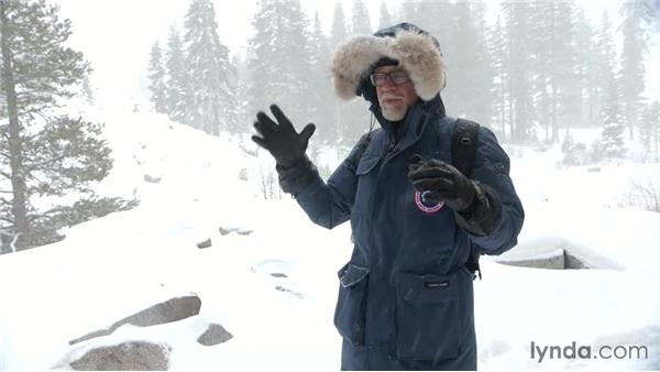 Shooting in snowy conditions on the first day: Travel Photography: Mountains and Snow Landscapes
