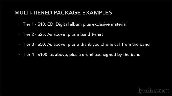 Using multitiered packages to promote sales: Selling Music: MP3s, Streams, and CDs